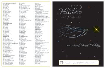 2012 Annual Awards Celebration - Hillsboro Chamber of Commerce