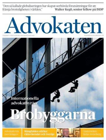 Nr 8 2012 som PDF - Advokatsamfundet