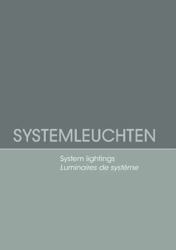 System lightings Luminaires de système - Durlum