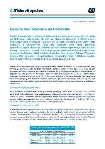 Oslavte Den železnice na Ostravsku - Vlaky.net