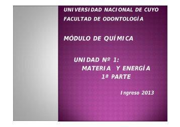 sistemas materiales: parte i - Facultad de Odontología - Universidad ...