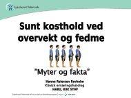 Sunt kosthold ved overvekt og fedme - Sykehuset Telemark
