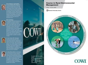Fellowship course in Rural Environmental Management 2008 - Cowi