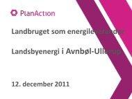Indlæg v. Lars Baadstorp, PlanAction - Sønderborg kommune på ...