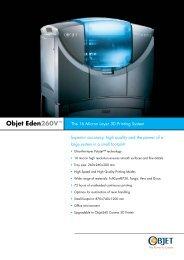 Objet Eden260 - 3DVision Technologies