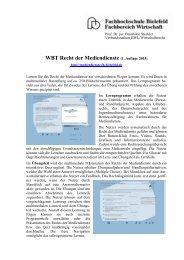 WBT Recht der Mediendienste (1. Auflage 2003)