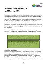 Evaluering af Kulturtjenesten 2012-2013 - Sund Sans over Sundet