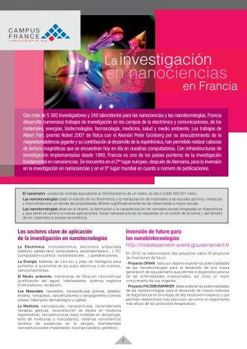 La investigación en nanociencias en Francia