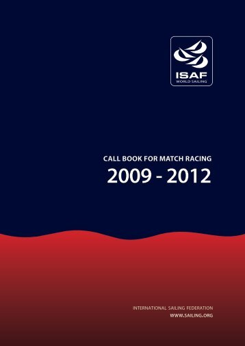 The Call Book for Match Racing 2009 - 2012 - Beth and Evans