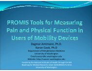 PROMIS Tools for Measuring Pain and Physical Function in the ...