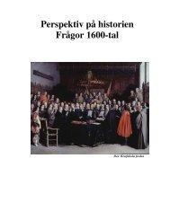 Perspektiv på historien Frågor 1600-tal