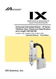Horizontal Articulated Robot – IX Series Tabletop Type ... - IGAS