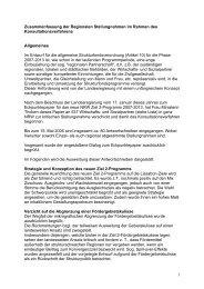 Auswertung des Konsultationsverfahrens zur Erstellung des neuen ...