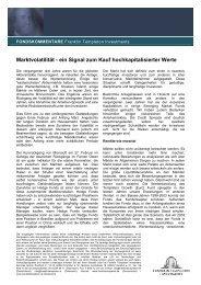 Marktvolatilität - ein Signal zum Kauf ... - INFOS GmbH