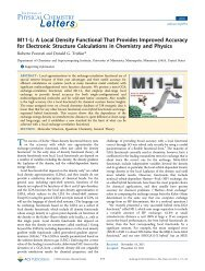 M11-L: A Local Density Functional That Provides Improved Accuracy ...