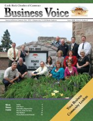 August 2008 - Castle Rock Chamber of Commerce