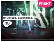 to see the full report from PRS for Music and FRUKT
