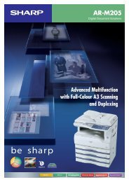 Built-in Duplex Module - Sharp Corporation of New Zealand