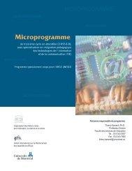 Microprogramme - Thierry Karsenti - Université de Montréal