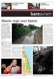 Massiv regn over banen - Banedanmark