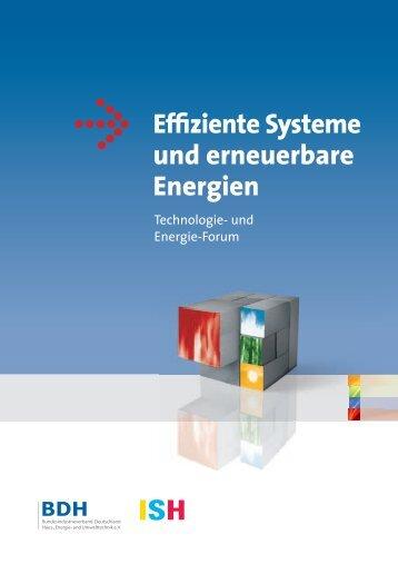Effiziente Systeme und erneuerbare Energien 2011 - bdh