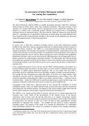 An assessment of lattice Boltzmann methods for coating flow ...