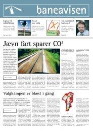 Jævn fart sparer CO2 - Banedanmark