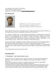 Personlig profil Foredragsemner: - Grundtvig