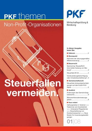 Ausgabe 01|08 Steuerfallen vermeiden - PKF