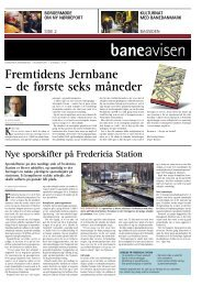 Fremtidens Jernbane – de første seks måneder - Banedanmark