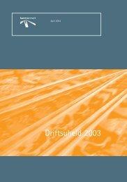 driftsuheld 2003 - Banedanmark