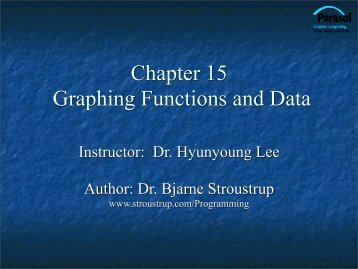 Graphing Functions and Data - TAMU Computer Science Faculty ...