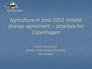 Setting Priorities - International Food & Agricultural Trade Policy ...