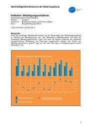 Indikator C1 Z2 Beteiligungsverfahren - Nachhaltigkeit - Stadt ...