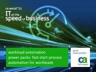 Process Automation - CA Technologies