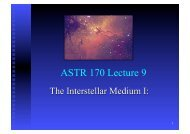 ASTR 170 Lecture 9