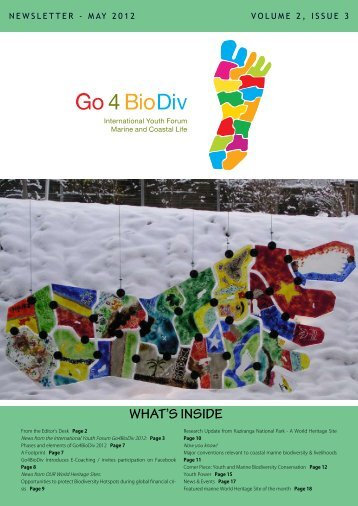 PDF Version of Newsletter - Go4BioDiv