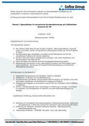 Einem/r Spezialisten/in technische Kundenbetreuung mit ...