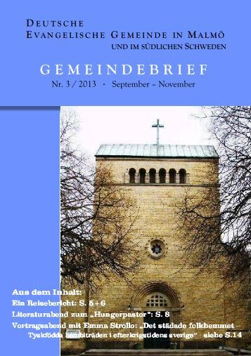 Herbst 2013 - Deutsche Evangelische Gemeinde Malmö