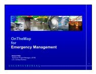 OnTheMap for Emergency Management - U.S. Census Bureau