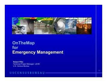 OnTheMap for Emergency Management - U.S. Census Bureau