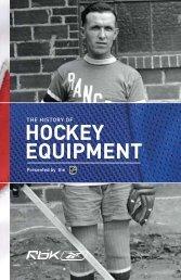 History of Hockey Equipment (.pdf) - Dallas Stars