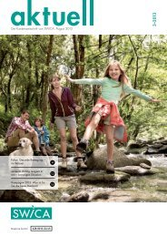 Die Kundenzeitschrift von SWICA, August 2013
