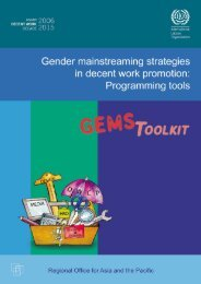 Gender mainstreaming strategies in decent work promotion