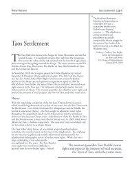 Taos Settlement - Utton Transboundary Resources Center