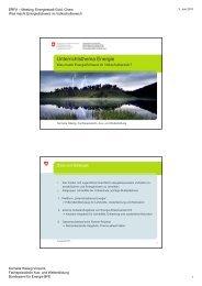 Unterrichtsthema Energie - Energie Zentralschweiz