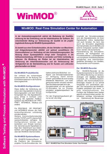Report - WinMOD Real-Time Simulation Center for Automation