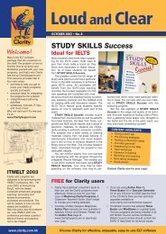loud and clear2 oct 2002 - Clarity English language teaching online