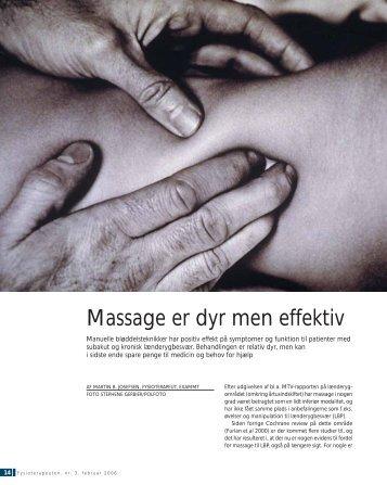 """Massage for Low Back Pain"" (pdf)"