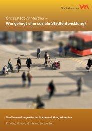 Flyer Veranstaltungsreihe der Stadtentwicklung Winterthur(PDF ...